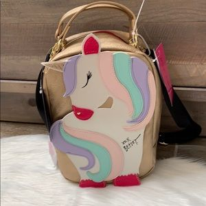 Betsey Johnson unicorn insulated lunch tote
